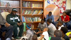 Mateen Cleaves at Boys and Girls Club Flint