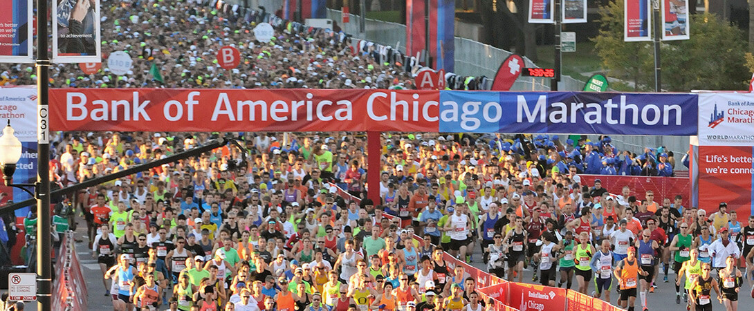 Chicago Marathon runners
