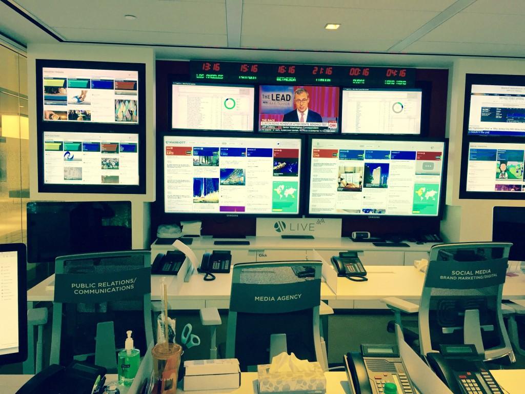 Marriott Content Studios desk