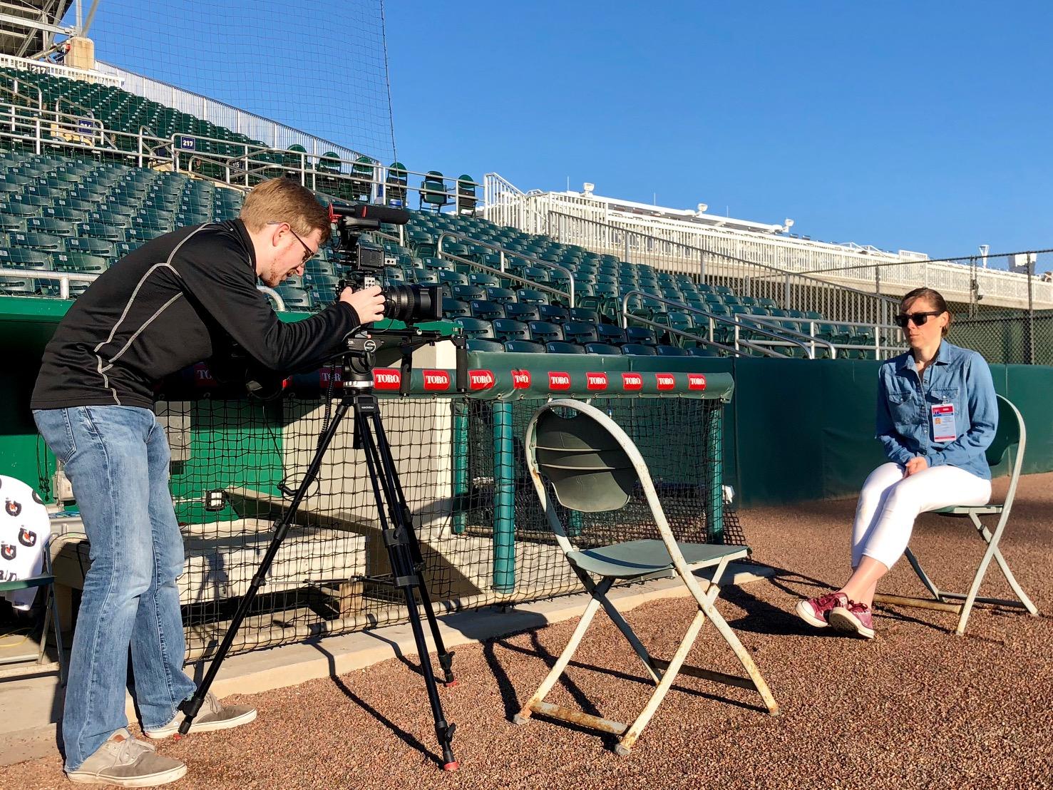 La Vida Baseball at Spring Training Shooting Video at Scale